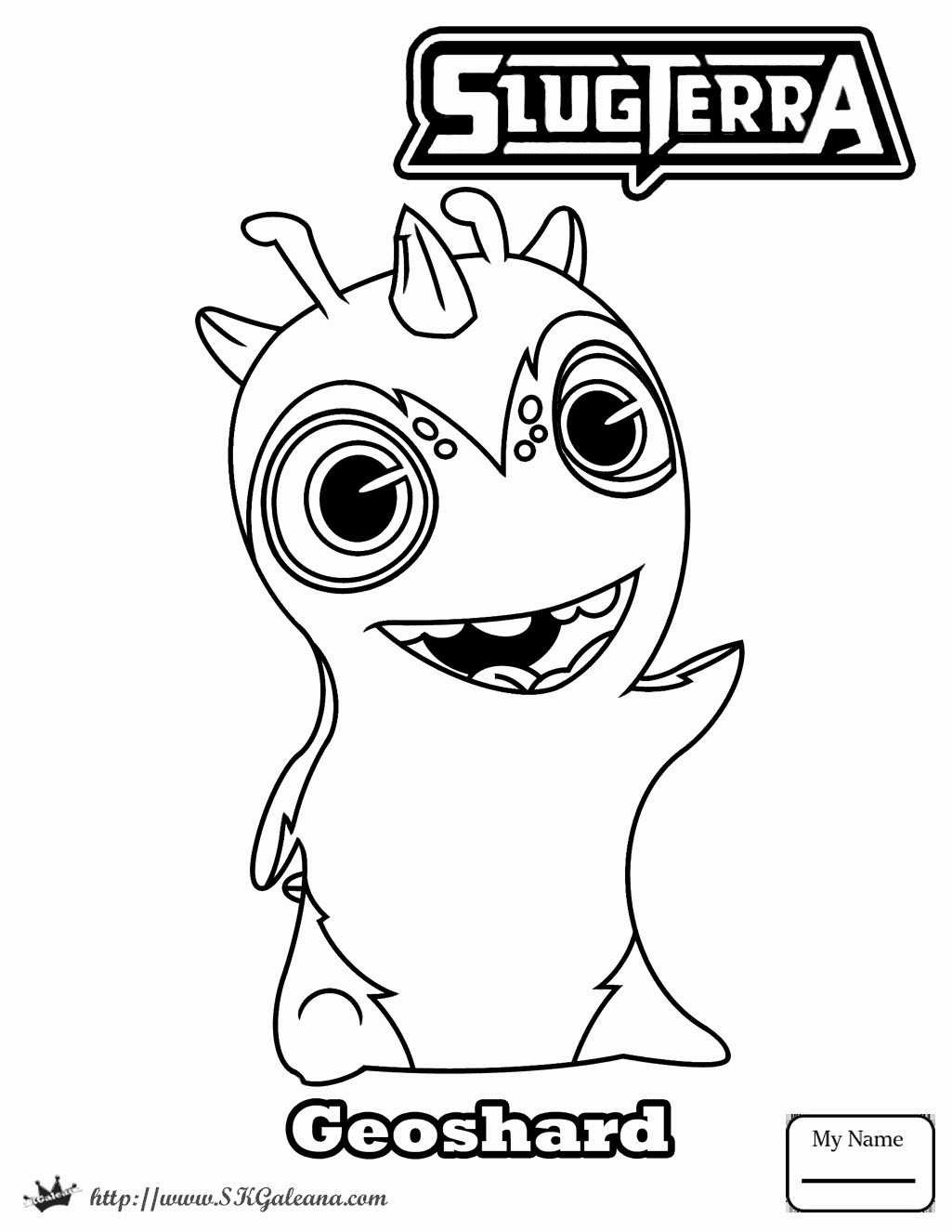 The best free Slugterra coloring page images. Download ...