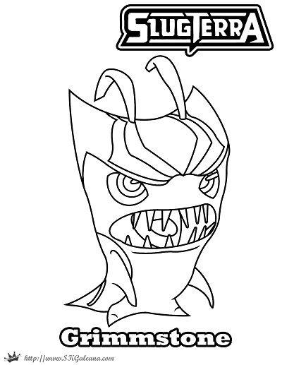400x517 Halloween Grimmstoner Coloring Page Slugterra Skgaleana Callan