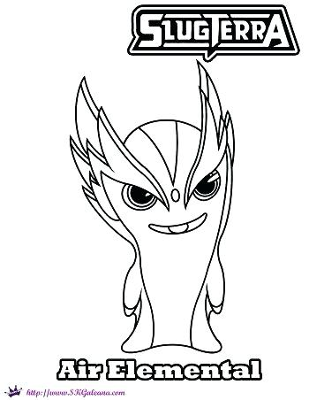 350x452 Slugterra Colouring Pages To Print Air Elemental Coloring Page
