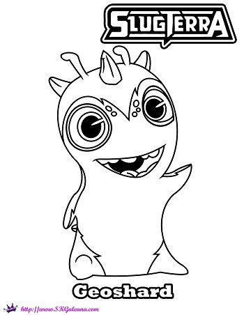 350x452 Slugterra Geoshard Printable Coloring Page And Wallpaper! Wallpaper