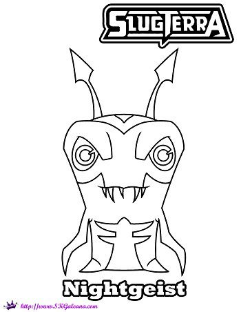 350x452 Free Coloring Page And Wallpaper Featuring Nightgeist From Slugterra