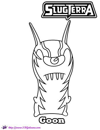 350x452 Printable Coloring Page Featuring The Slugterra Villain Goon Cat