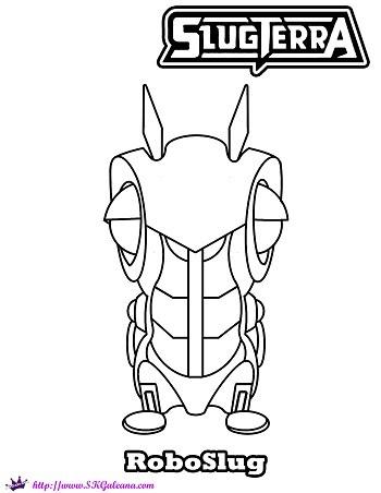 350x452 Free Slugterra Printable Coloring Page Of Roboslug! Skgaleana