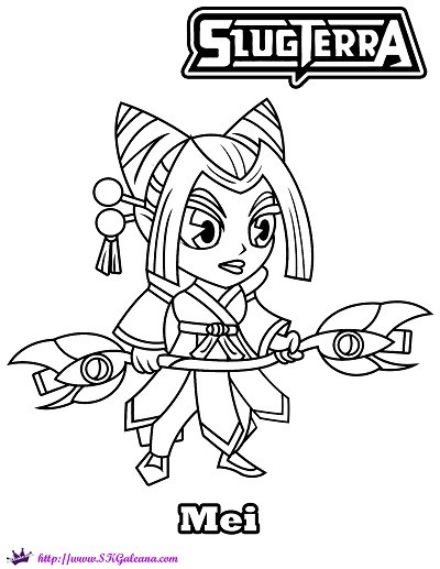 400x517 Printable Coloring Page Of Mei The Slugslinger Skgaleana