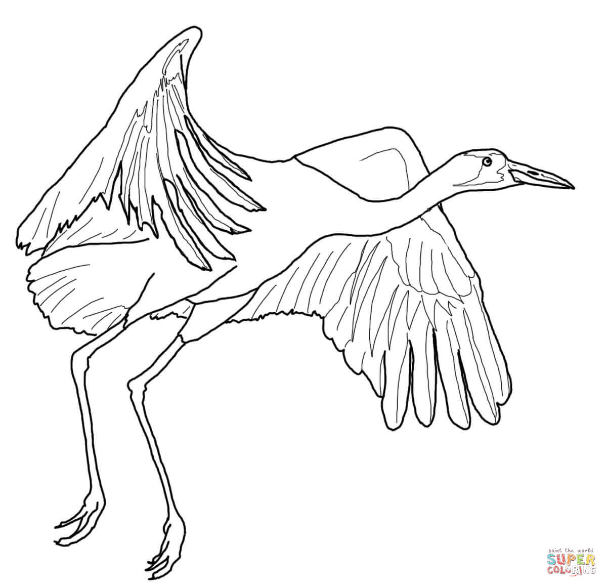 1200x1160 Crane Coloring Pages All Coloring Pages