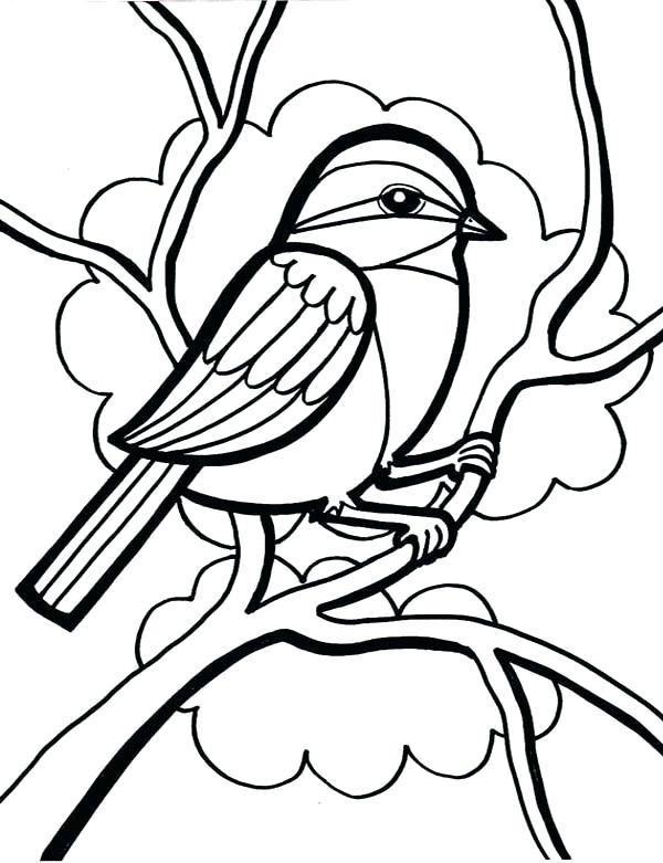 600x781 Cute Bird Coloring Pages Birdies Coloring Page Love Birds Birdies