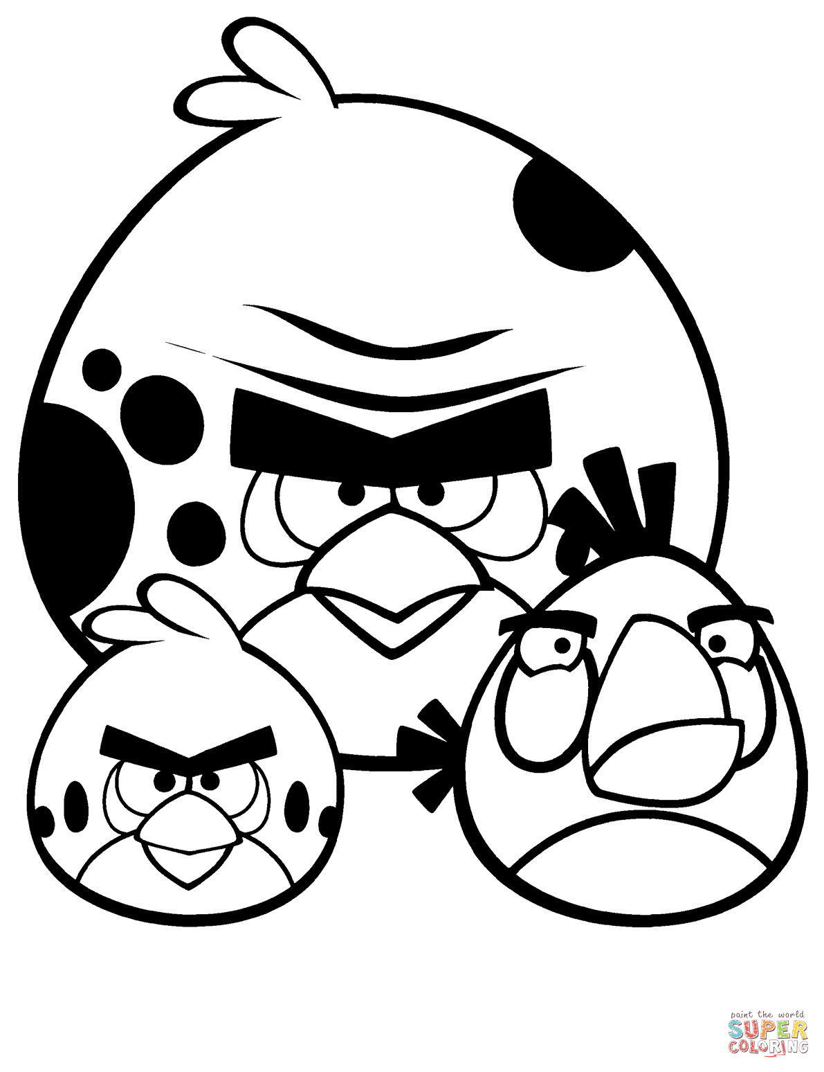 1191x1548 Angry Birds Coloring Pages Free Bright Sheets Acpra