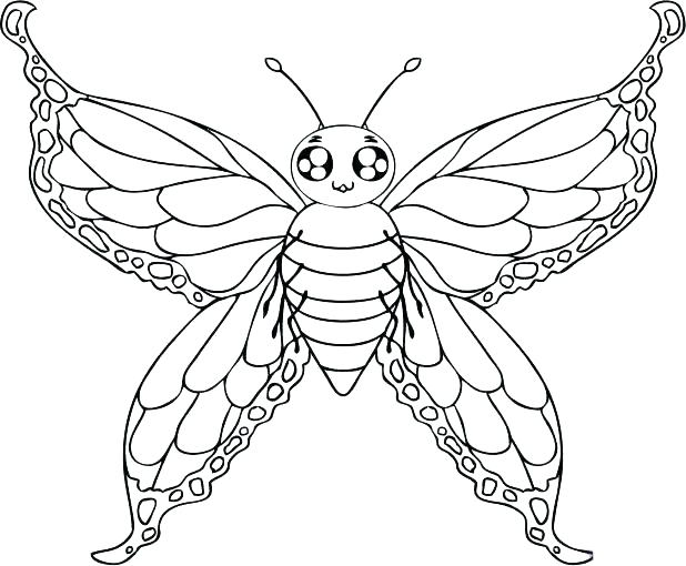 618x510 Butterfly Coloring Page Printable Small Butterfly Coloring Pages