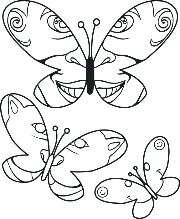 575x700 Butterfly Coloring Pages Printable Free Butterflies Coloring Pages