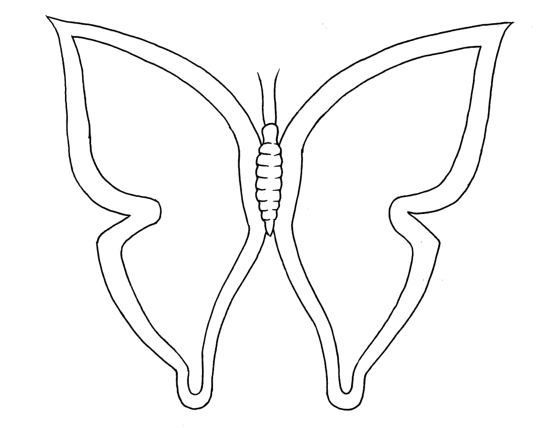 1100x850 Butterflies Coloring Pages Free Coloring Pages
