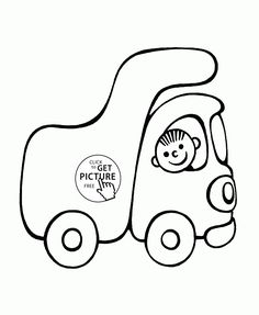 236x287 Cute Small Car Coloring Page For Preschoolers, Transportation