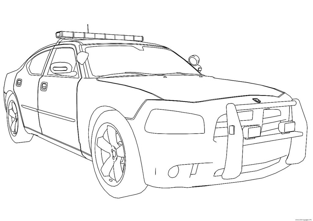 1024x723 Dodge Charger Police Car Coloring Pages Coloring Page For Creativity