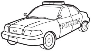 300x169 Car Coloring Pages Police Car Grandparentscom