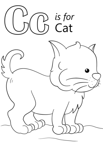 340x480 Coloring Pages For The Letter C Letter C Coloring Pages Letter C