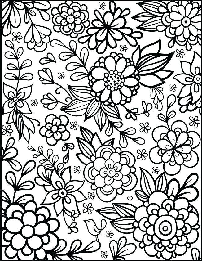 652x841 Flower Coloring Page Small Coloring Pictures Easy Flower Coloring