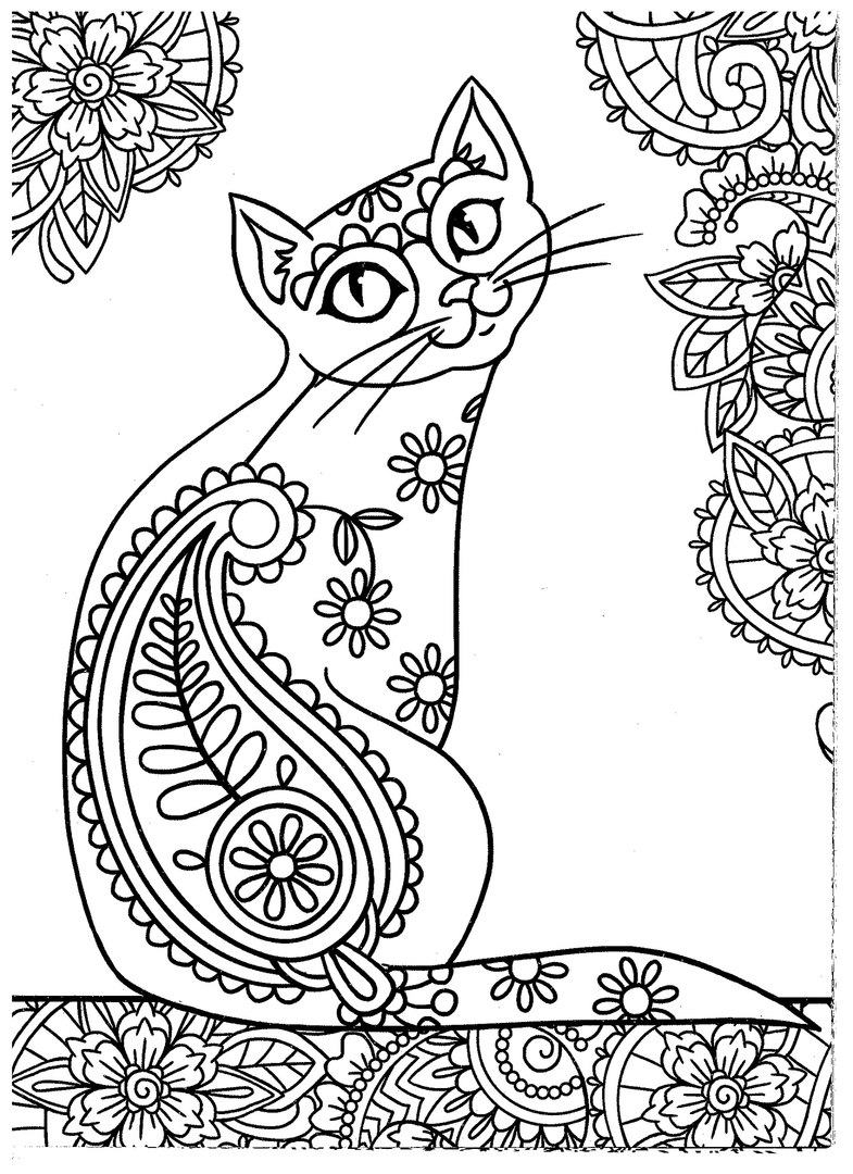 785x1080 New Kitties Coloring Pages Adults Free Colouring Pages Free