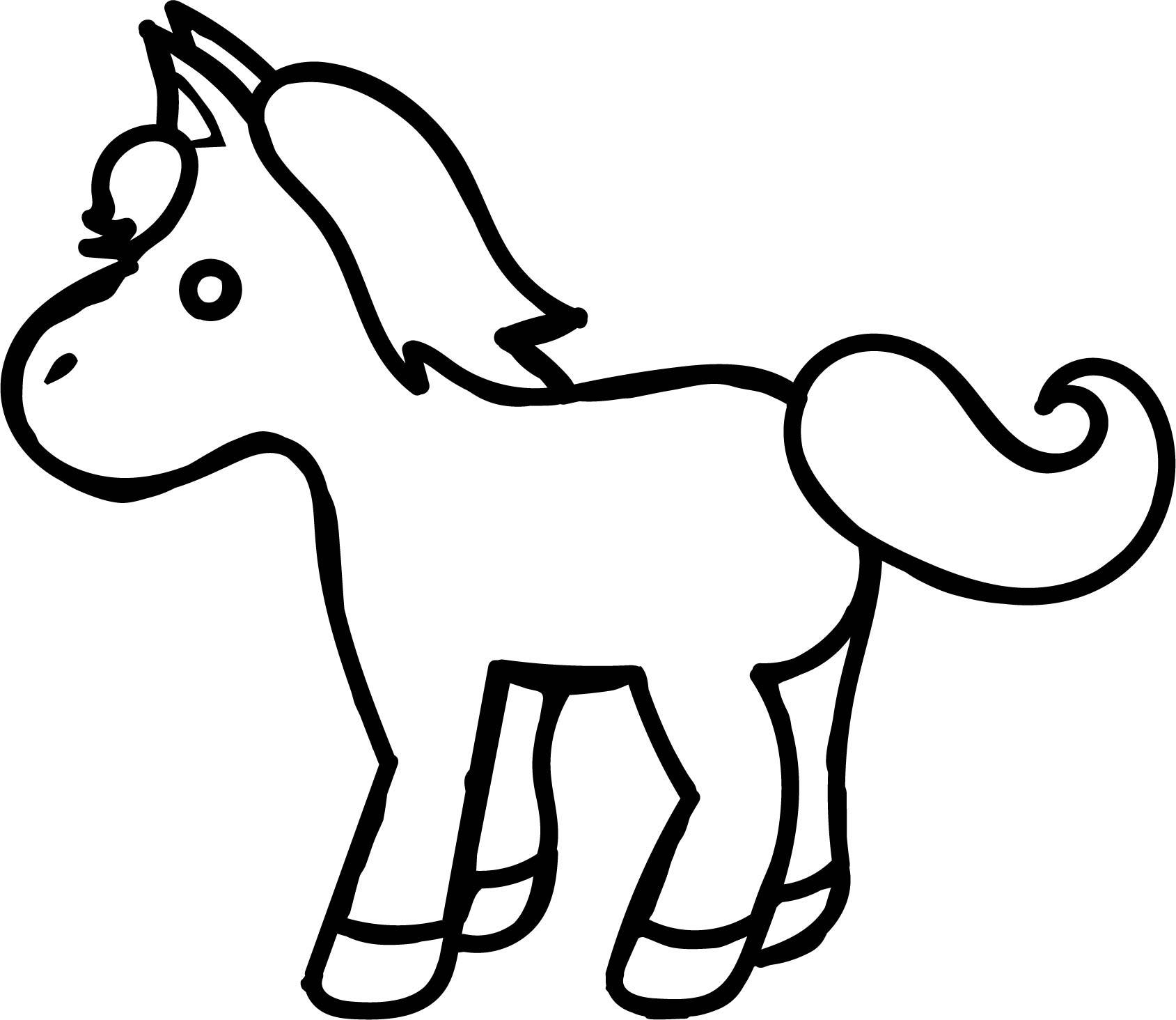 1689x1464 Shocking Small Cartoon Horse Coloring Page Wecoloringpage Pict