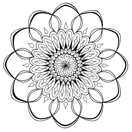 444x443 Small Adult Coloring Pages