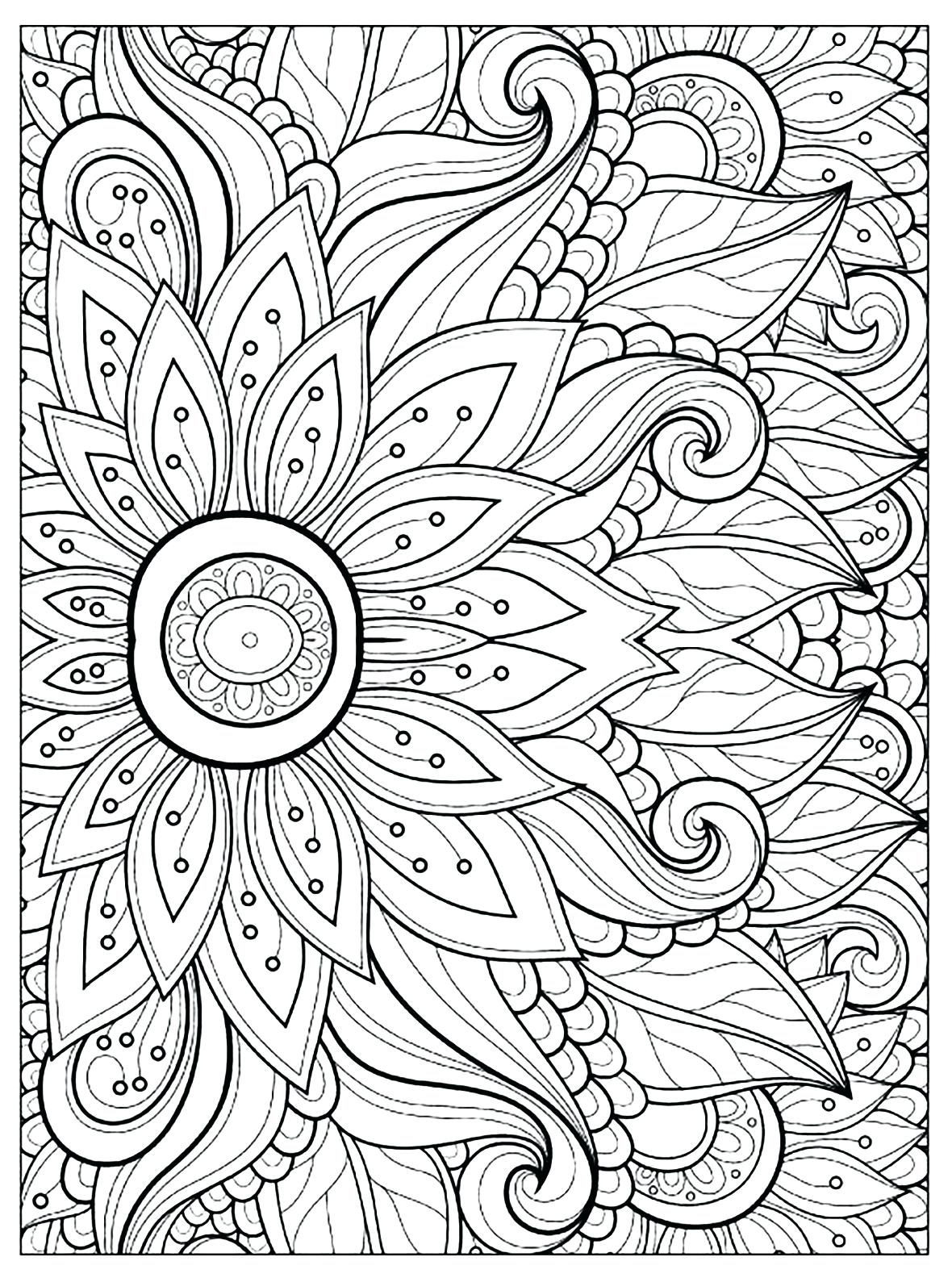 1180x1584 Coloring Page Flower Color Page Flower Coloring Pages