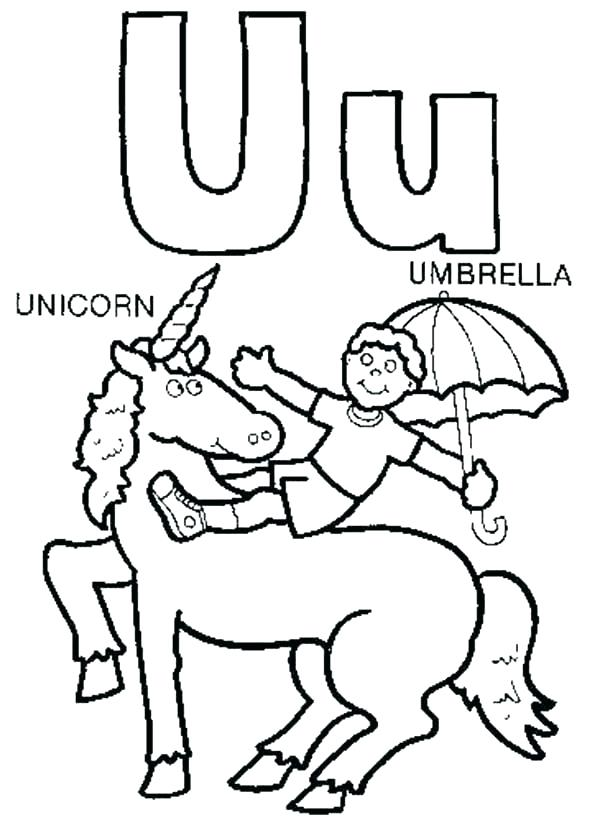 600x828 C Coloring Pages Letter U Coloring Pages U Is For Unicorn Coloring