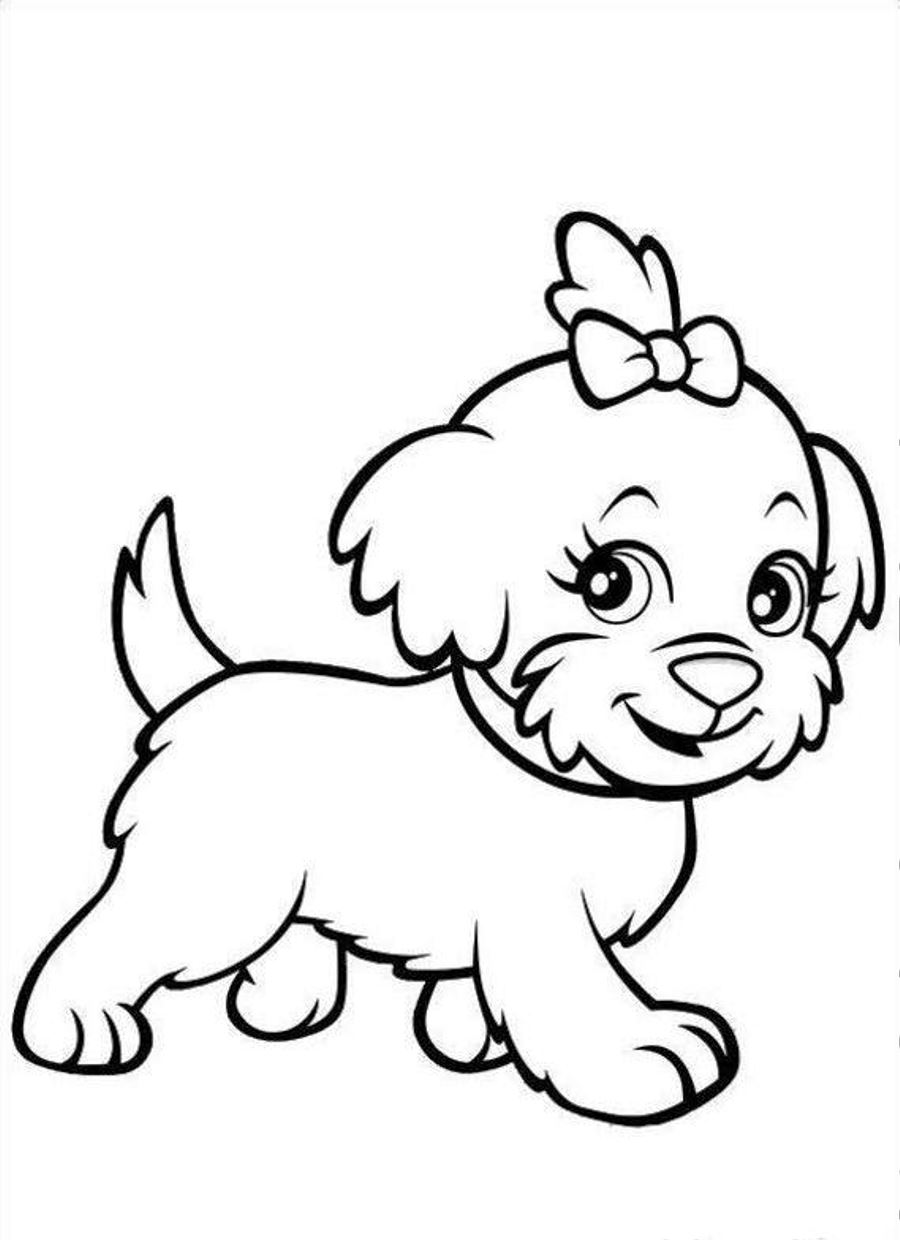 900x1240 Cute Puppy Coloring Pages