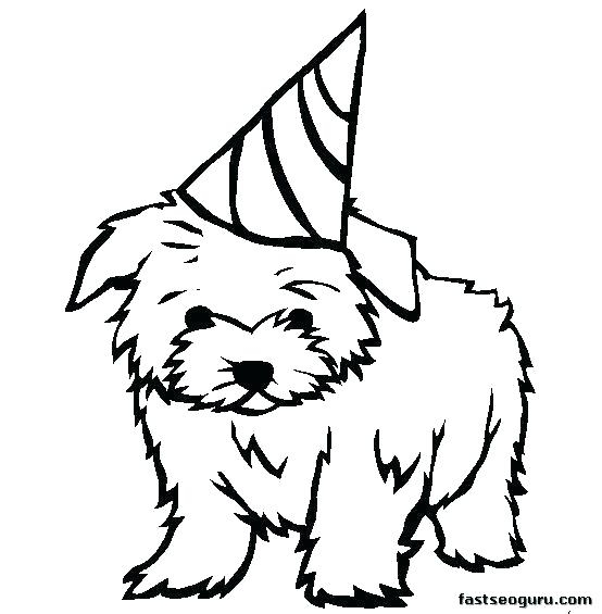 554x565 Doggy Coloring Pages