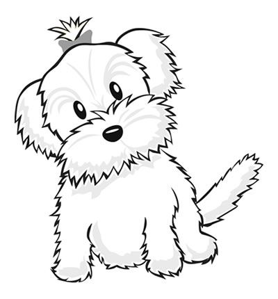 400x430 Yorkie Coloring Pages Color A Puppy! Coloring Book Pages