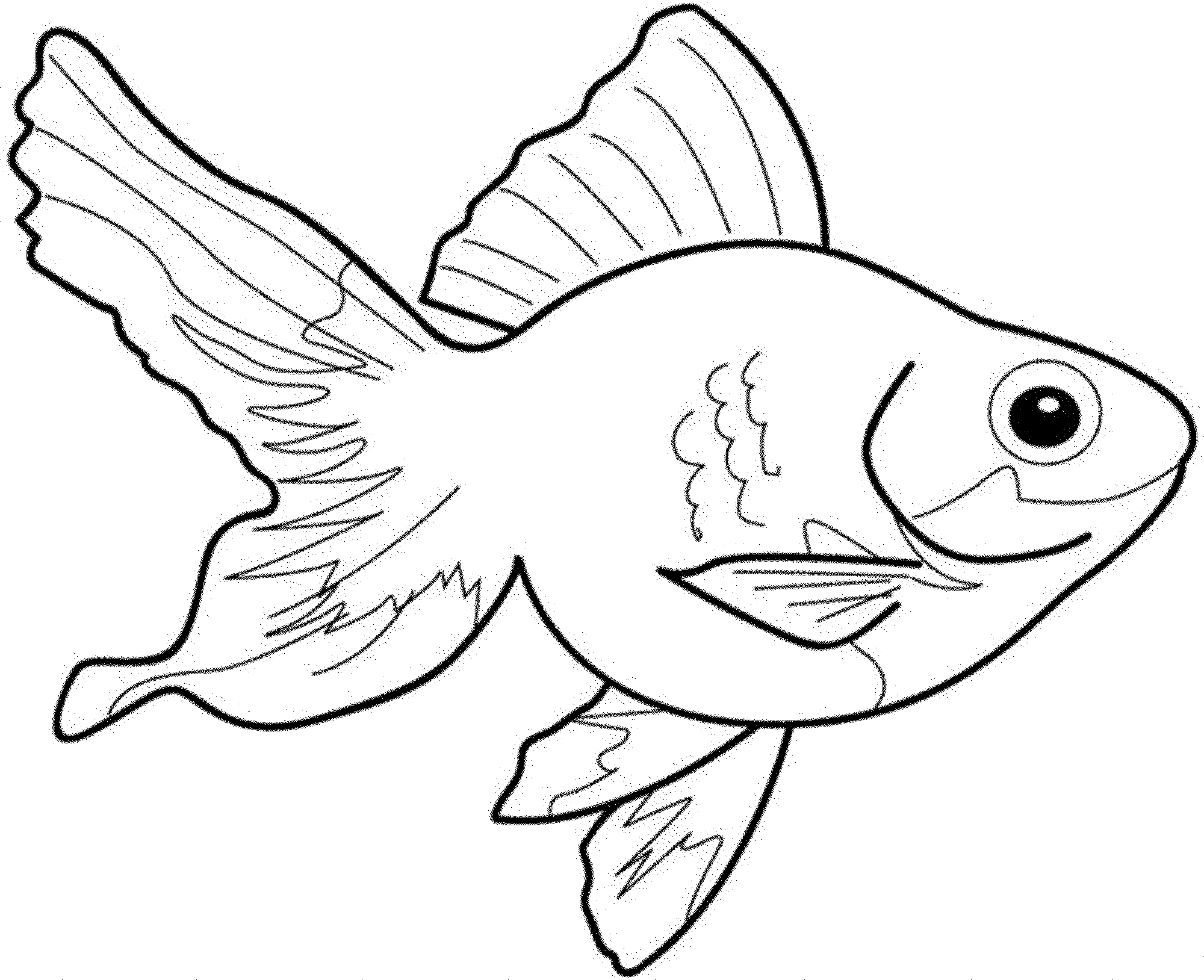 2000x1628 Goldfish Coloring Page Impressive