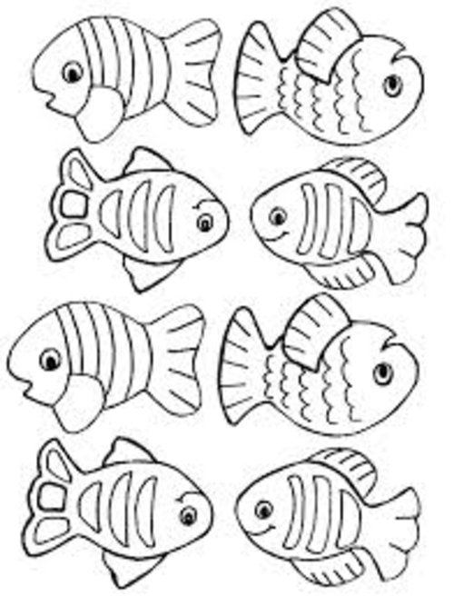 500x656 Small Fish Coloring Pages For Kids Title= Down
