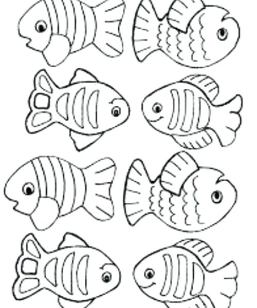 500x600 Small Fish Coloring Pages Printable Pictures To Color Roses