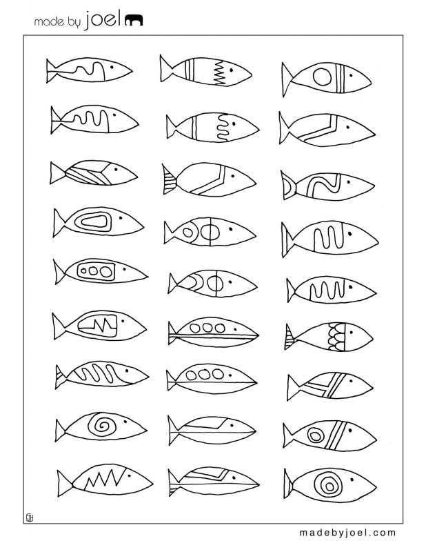 618x800 Small Fish Coloring Pages