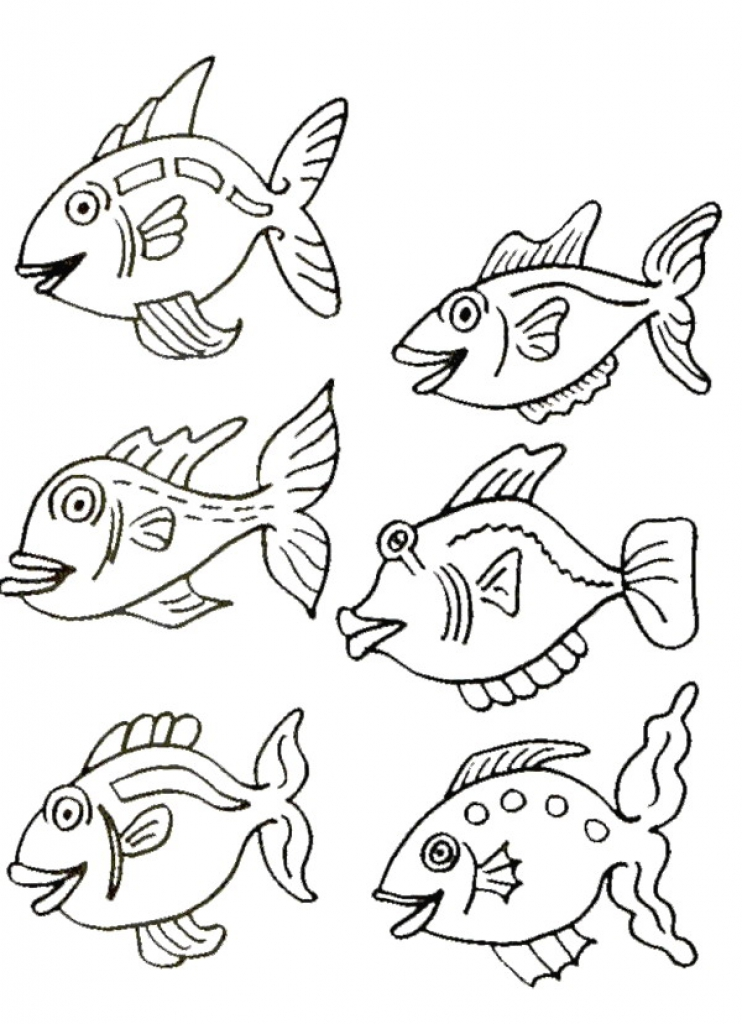 742x1024 Small Fish Coloring Pages Kids N Fun Coloring Pages Of Fish