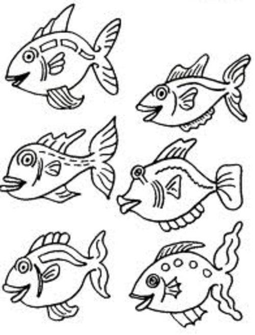 500x656 Small Fish Coloring Pages Small Fish Coloring Pages For Kids