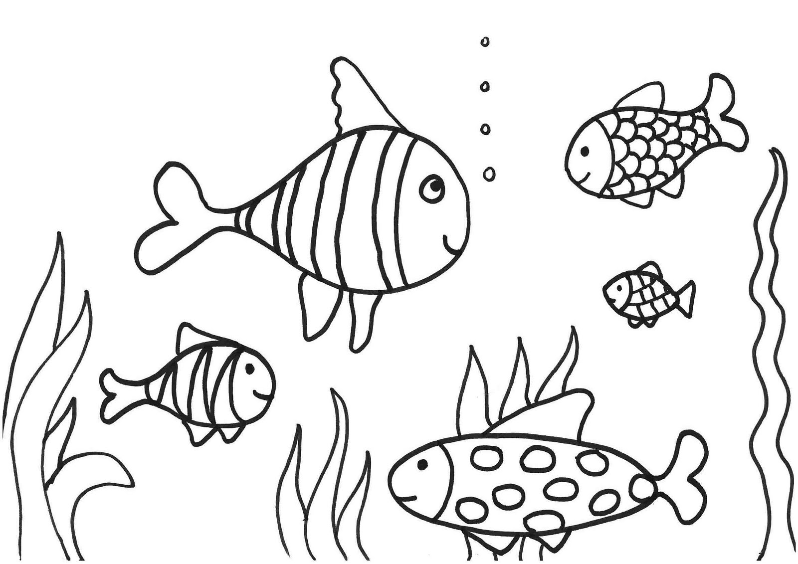 1600x1131 Easy Coloring Pages Of Fish Copy New Printable Small Template
