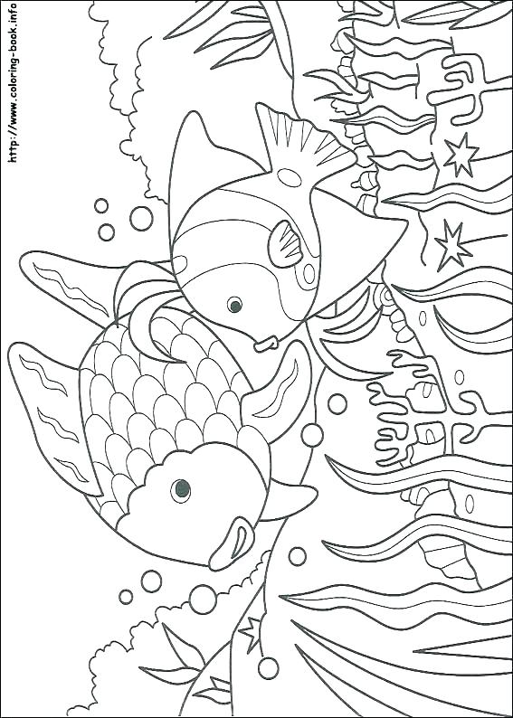 567x794 Fish Coloring Pages Printable Small Fish Coloring Pages For Kids