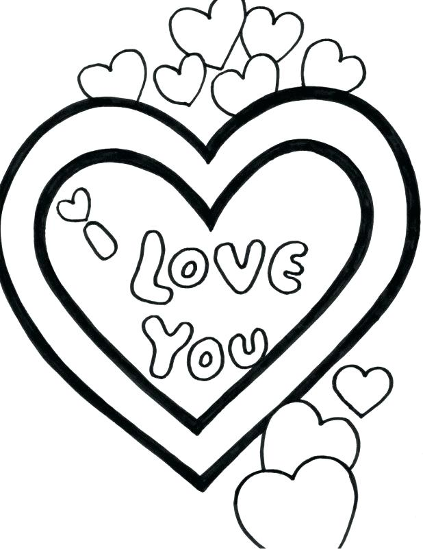 618x808 Heart Pictures To Color Small Heart Coloring Pages Valentine Heart