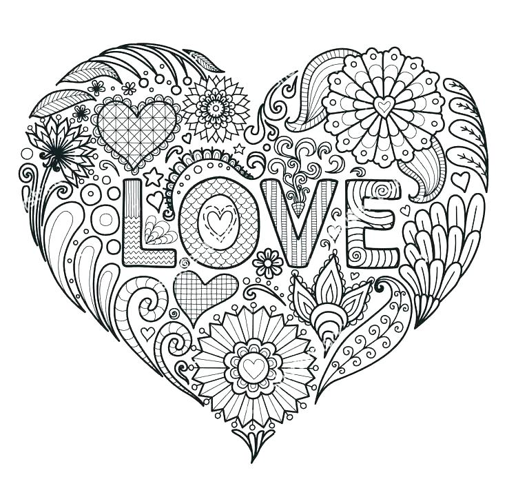 736x721 Hearts And Flowers Coloring Pages Coloring Page Heart Small Heart