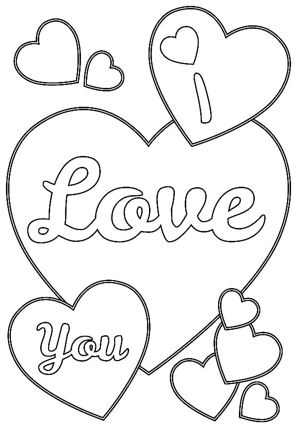 600x900 Love Heart Colouring Sheets