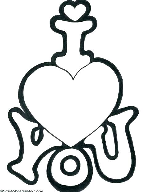 477x625 Love You Coloring Pages Love Heart Coloring Pages Small Heart