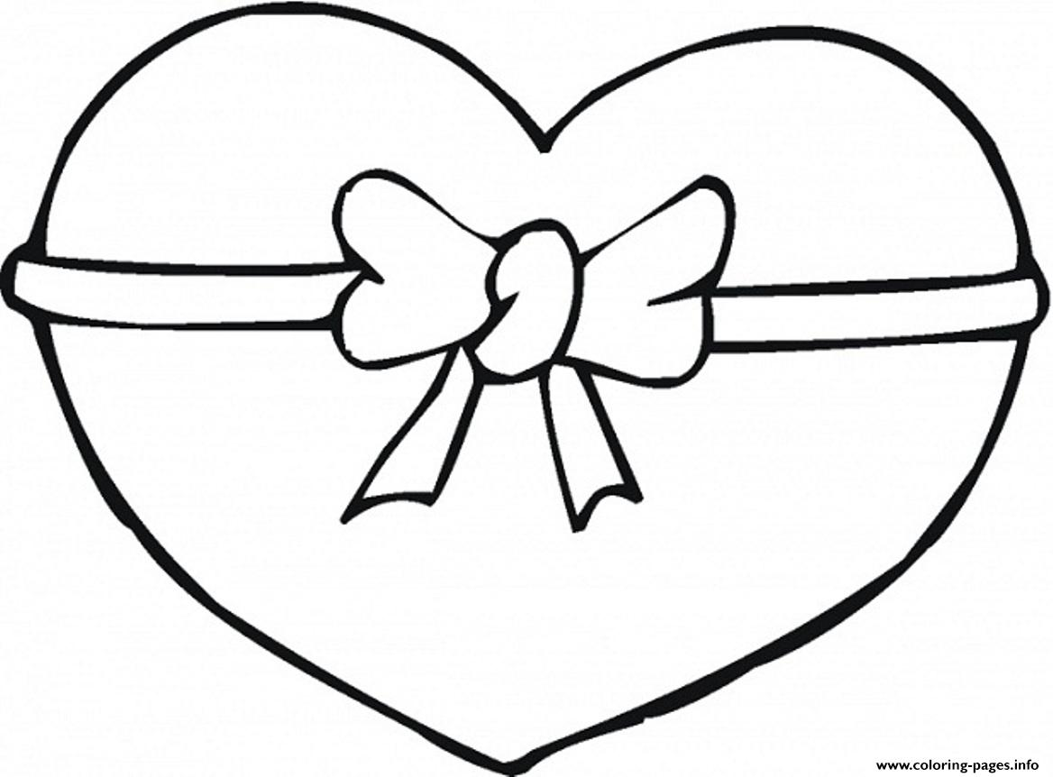 1168x862 Ribbon Heart Valentine Coloring Pages Printable
