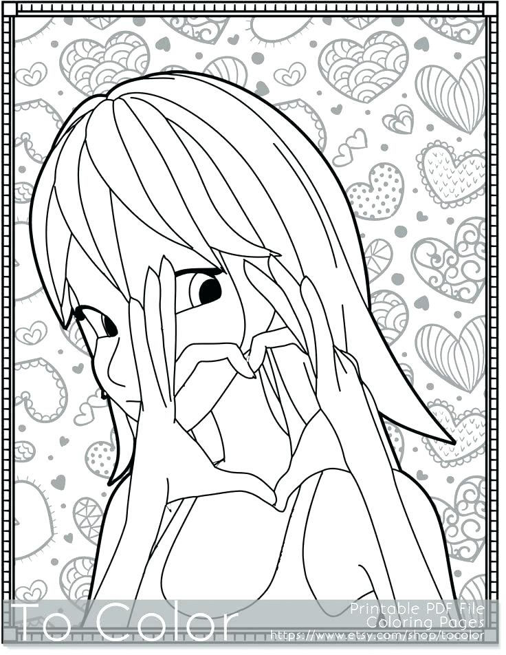 736x952 Small Heart Coloring Pages Coloring Page For Valentines Day Girl