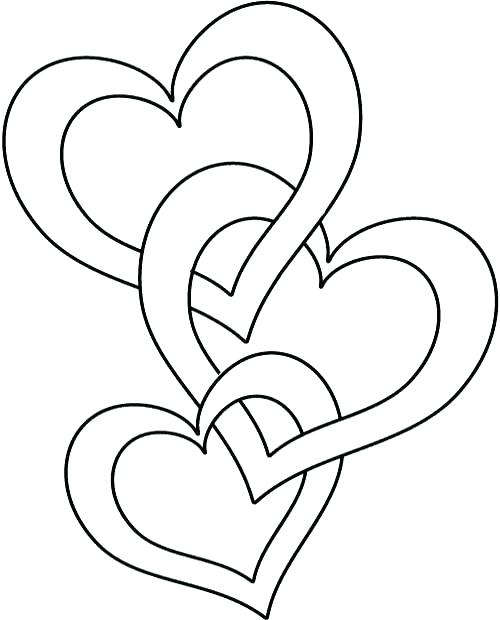 500x620 Small Heart Coloring Pages Phone Coloring Pages Heart Color Sheet