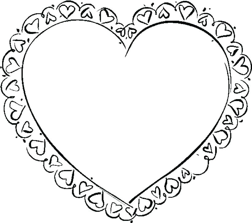 820x724 Coloring Pagesof A Heart
