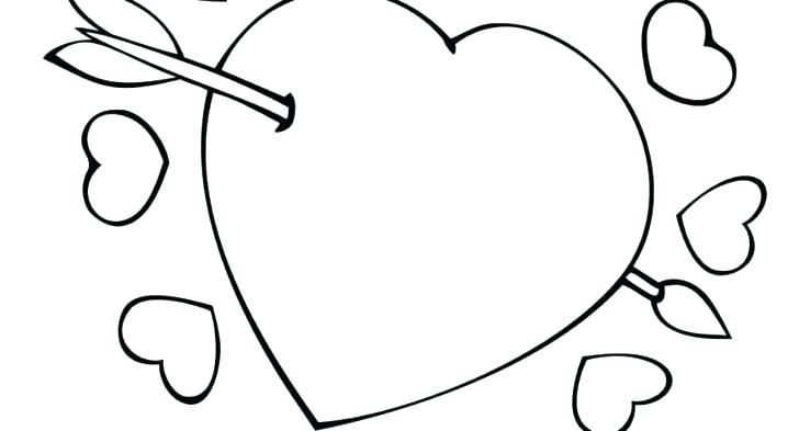 728x393 Heart Coloring Pages