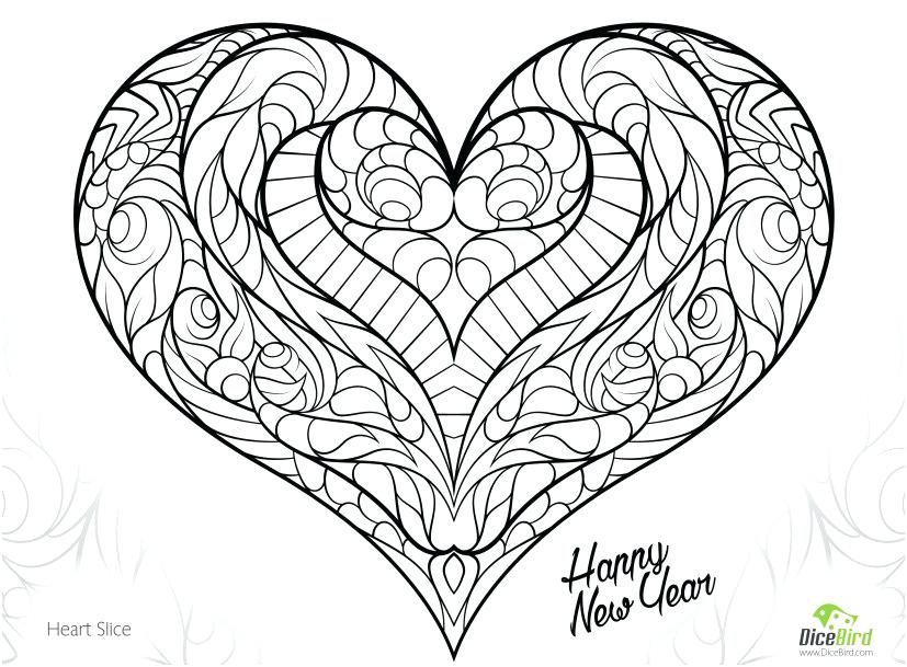 827x609 Heart With Wings Coloring Pages
