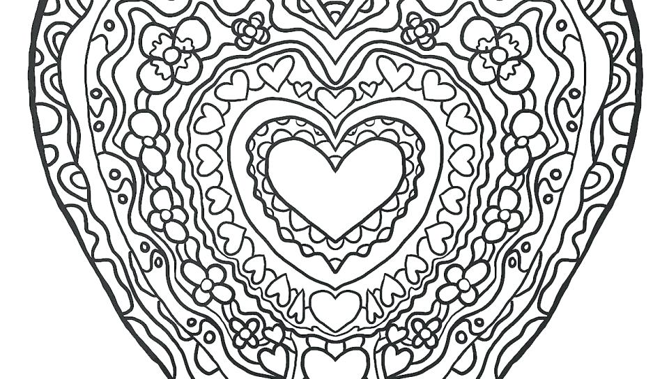 960x544 Coloring Pages Heart Colouring Pages Love Heart Valentines Heart