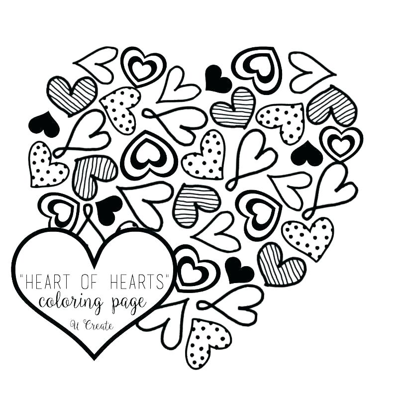 800x800 Coloring Pages Pictures Heart Coloring Page Heart Coloring Page
