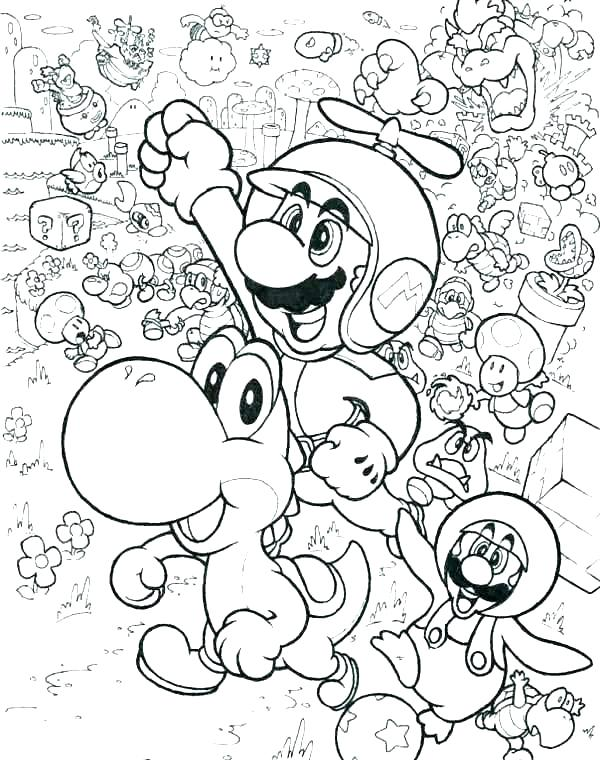 600x760 Super Mario Brothers Coloring Pages S Thers Super Mario Smash Bros