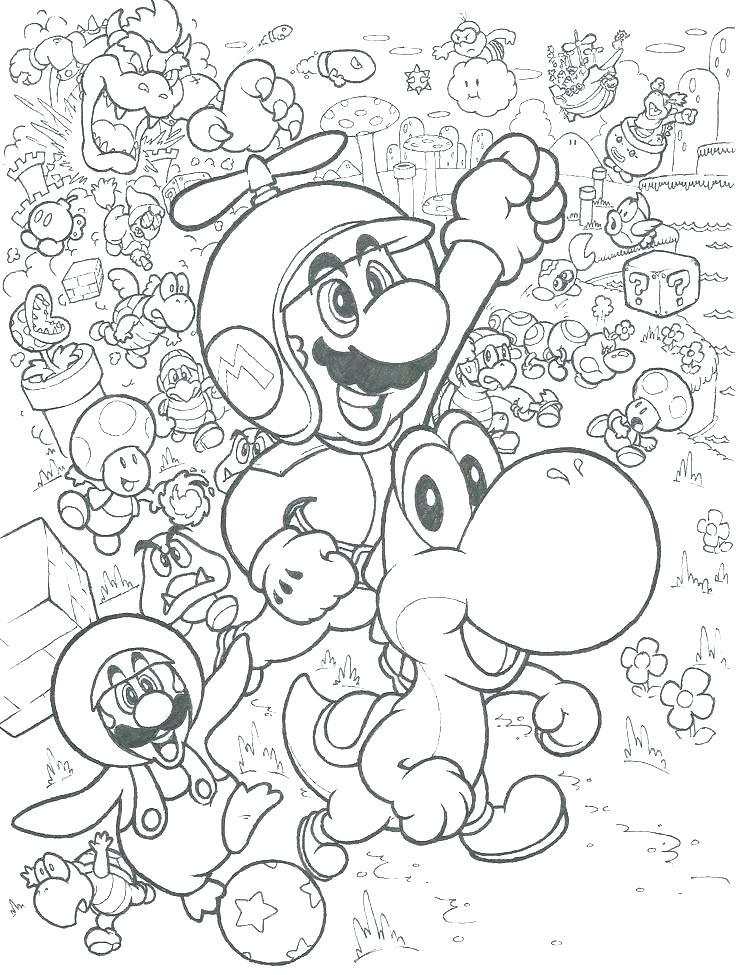 736x975 Super Mario Bros Coloring Pages Super Bros Coloring Sheet Super
