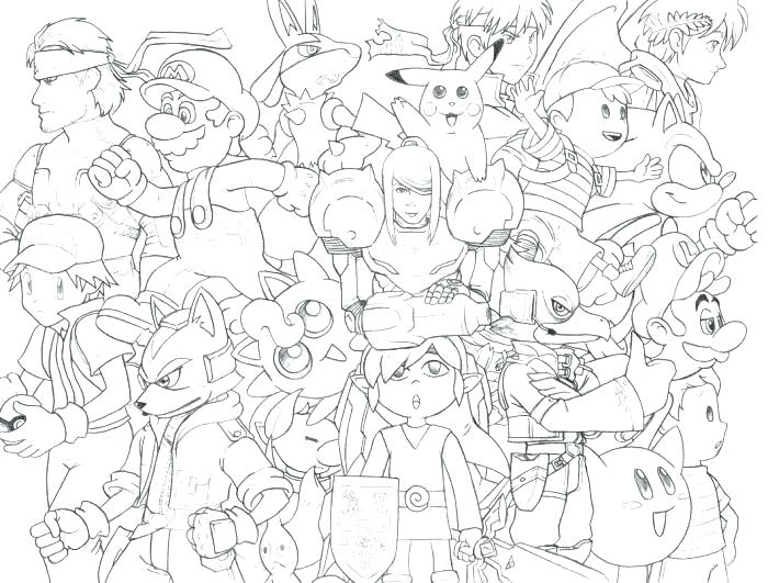 700x531 Super Smash Bros Brawl Coloring Pages Super Smash Bros Brawl